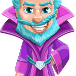 Fantasy Wizard Cartoon Vector Character