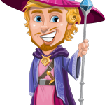 Sorcerer Cartoon Vector Character