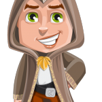 Young Wizard Boy Cartoon Character