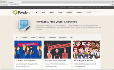 Pixeden Free Vector Cartoon Characters