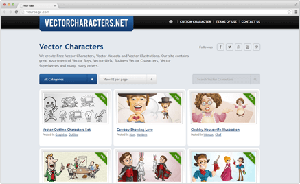 Vector-characters Free Vector Cartoon Characters