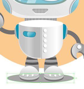 vector-robot-character-background