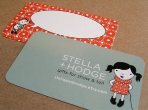 cartoon business card little girl