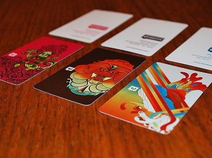 cartoon business cards colorful