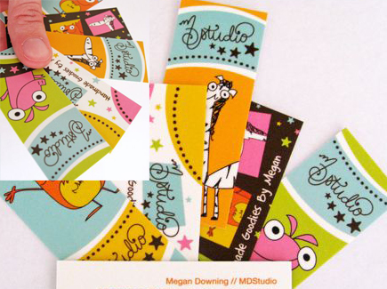 cartoon business cards animals