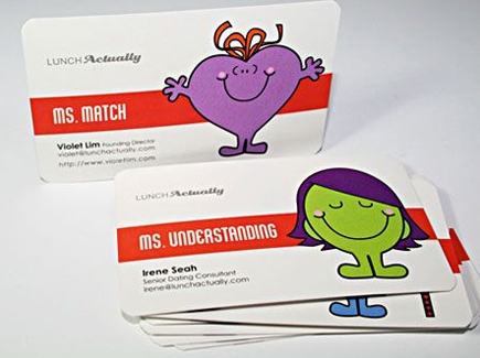 cartoon business cards heart