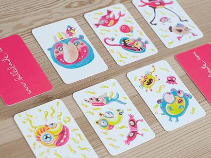 cartoon business cards bright