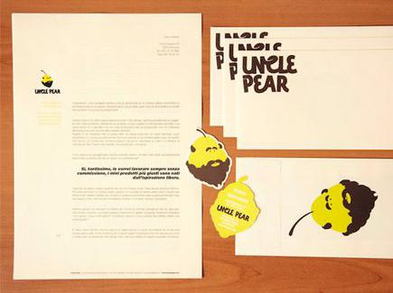 cartoon business card pear