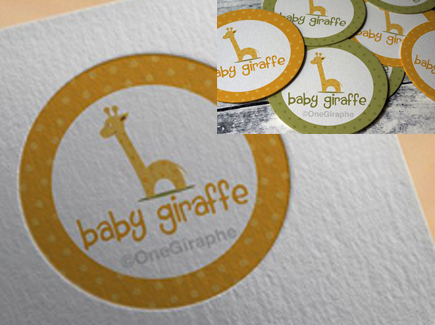 cartoon business card giraffe