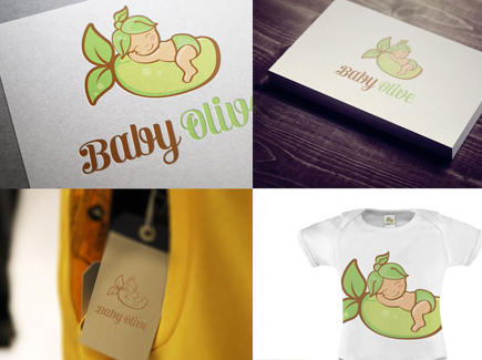 cartoon business card olive