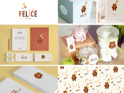 cartoon business card bear
