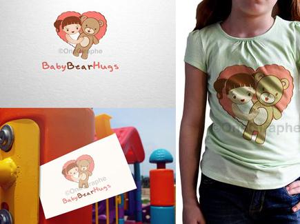 cartoon business card teddy bear