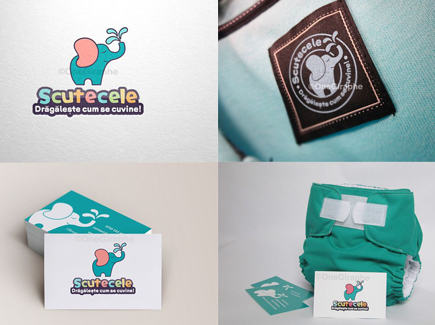cartoon business card elephant