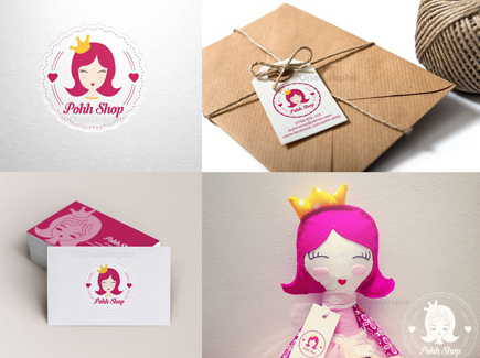 cartoon business card princess
