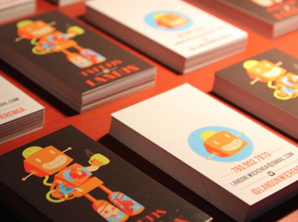 cartoon business cards robot