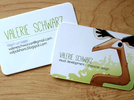 cartoon business card animal