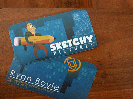 cartoon business card sketchy