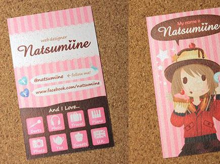cartoon business card manga