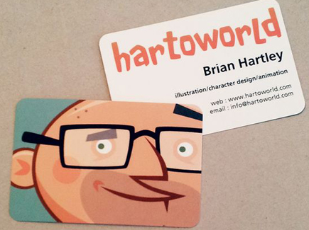 cartoon business card man