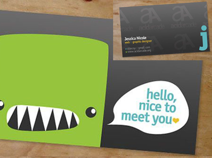 cartoon business card whale