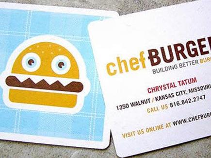 cartoon business card burger