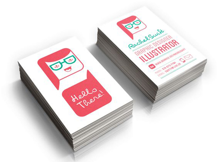 cartoon business card character
