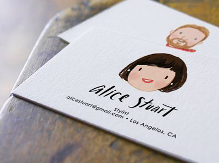 cartoon business card face