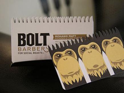 cartoon business card monkey