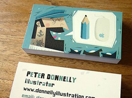 cartoon business card artist