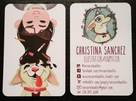 Cartoon business cards 100 insanely creative designs to inspire you cartoon business card illustration colourmoves