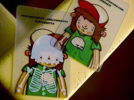 cartoon business card boy