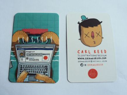 cartoon business card illustration