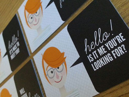 cartoon business card girl