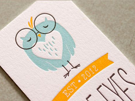 cartoon business card owl