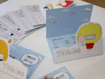 cartoon business card yigloo