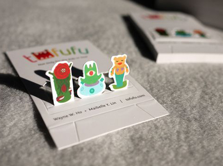 cartoon business card monsters