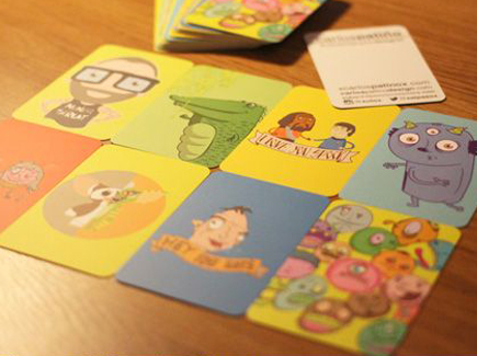 Cartoon business cards 100 insanely creative designs to inspire you cartoon business cards colorful colourmoves