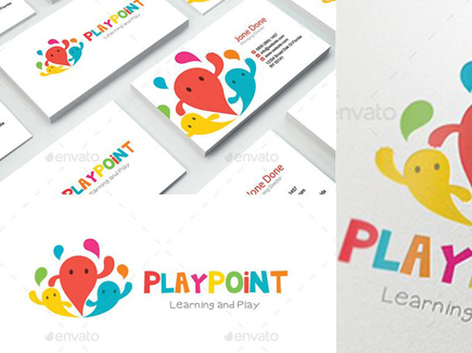 cartoon business card playground