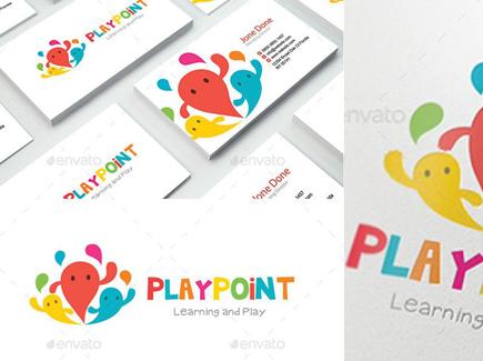 cartoon business card playground