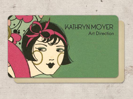 cartoon business card fashion