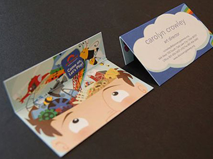 cartoon business card museum