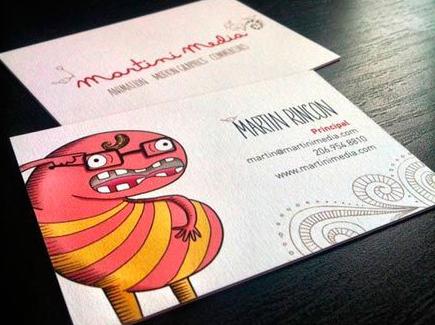 cartoon business card monster