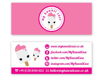 cartoon business card icecream