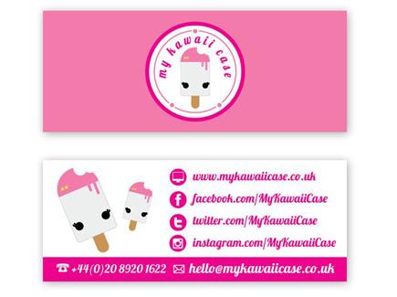 cartoon business card icecream