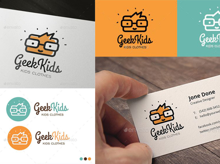 cartoon business card geek