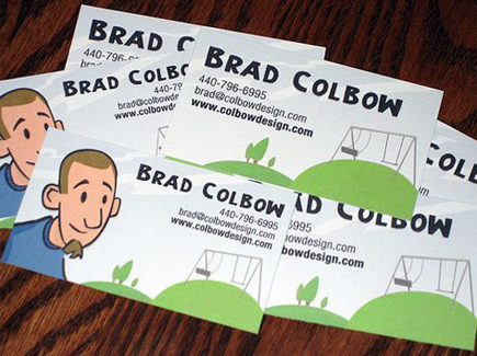 cartoon business cards brad