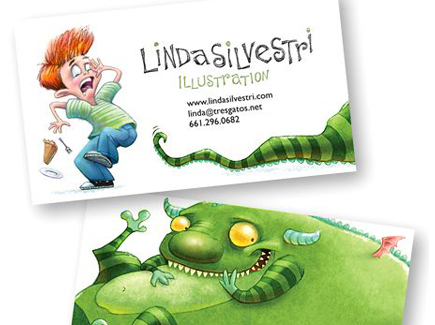 cartoon business card fun