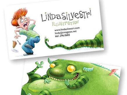 cartoon business card fun