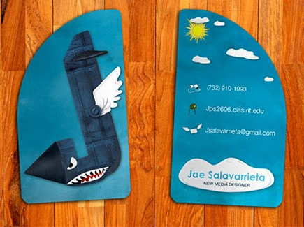 cartoon business card jae