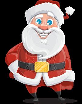 santa claus christmas cartoon character